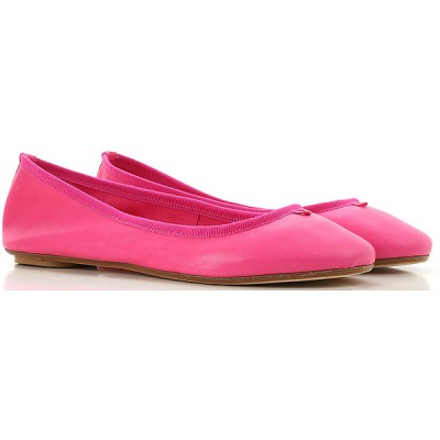 Anna Baiguera Women Ballet Flats fuxia Leather the best ANDXN8740