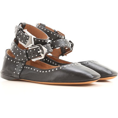 Givenchy Women Ballet Flats Black Leather 2021 New VLKAH7509