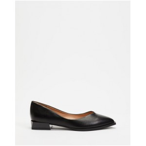 Women Pointed Ballet Flats Betsy Black Fit UAKPRRO