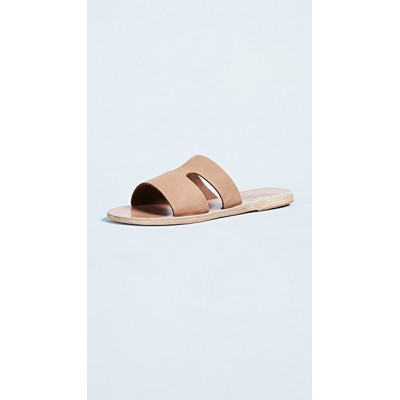 Ancient Greek Sandals Girl's Apteros Slides Cappuccino in style RJHU207