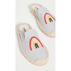 Soludos Women's Rainbow Bright Mule Espadrilles Chambray Trends BMSX951