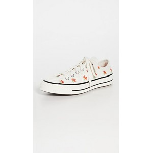 Converse Girl's Chuck 70 Embroidered Garden Party Sneakers Egret/Bright/Poppy/Black wholesale CJPW699