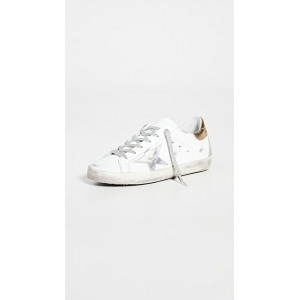 Golden Goose Women's Superstar Sneakers White/Silver/Gold on clearance SCZX844