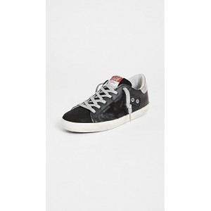 Golden Goose Young Women's Superstar Quilted Sneakers Black/Silver FROT298