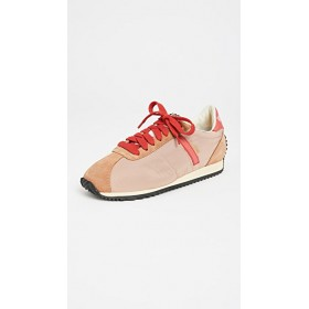 RE/DONE Young Women's 70s Runner Sneakers Tan/Red outlet LEQT843