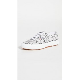 Superga Womens 2750 Snake Lace Up Sneakers White Python FAWF481