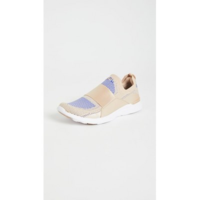 APL: Athletic Propulsion Labs Womens TechLoom Bliss Sneakers Champagne/Cobalt/White Trend DIGM972