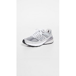 New Balance Womens Made in USA 990v5 Sneakers Grey/Castlerock fashion guide OCME420