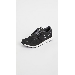 On Women's Cloud Sneakers Black/White The Top Selling XMFD125