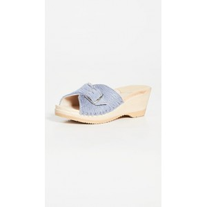 No.6 Young Women's Abuela Mid Wedge Clogs Dusk sale online DKNA205
