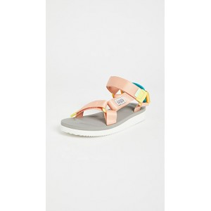 Suicoke Girl's Depa-CAB Sandals Pink/Grey For Sale MDEI851