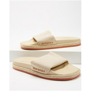 Women's 1908 Rope Linen Slides - Women's Superga Taupe cool designs NWAYQEE