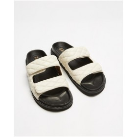 Womens Jeffrey Sandals Dazie White Quilted in style YXSWUOB