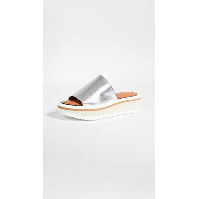 Clergerie Young Ladies Fastie Slide Sandals Silver sale online ITLH625