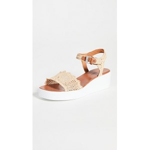 Clergerie Young Ladies Sally Sandals Natural Raffia IOTE257