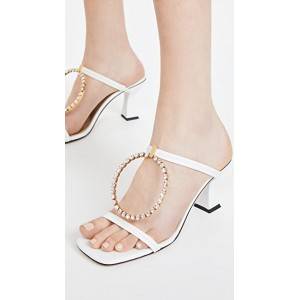 JW Anderson Womens Crystal Buckle Sandals White Business Casual QRWX643