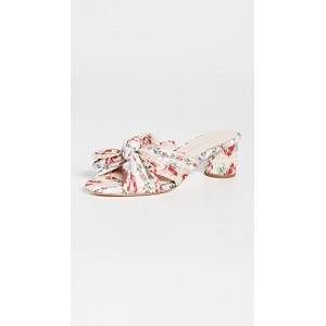 Loeffler Randall Womens Emilia Pleated Knot Mules Painterly Floral boutique LLLM935