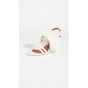 Malone Souliers Women's Sonia 70 Sandals White Discount MHJQ244