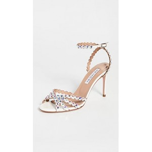 Aquazzura Women's Tequila 85mm Sandals Mother of Pearl SYTV255