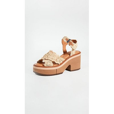 Clergerie Women's Charlize Sandals Natural Cost PEIY155