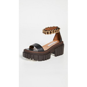 Stella McCartney Young Women's Emilie Chain Sandals Black The Most Popular GLSF656