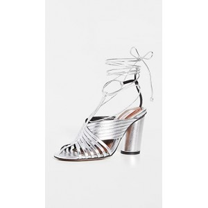 Zimmermann Young Women's Strappy Angled Heel Sandals Silver on style FGVP800