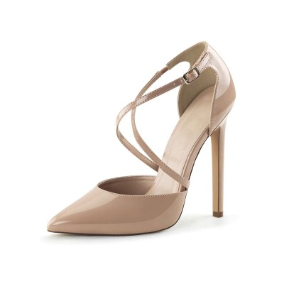 Apricot Sexy Heels Pointed Toe Stiletto Heel Pumps For Women boutique #12400904426