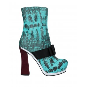 Women High Heels On Line comfortable - Women Ankle boots Soft Leather, Textile fibers NQPHZ3331