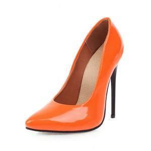 Women's Patent Leather high Heels Pointed Toe Stiletto Heel Sexy Pumps #23600900838