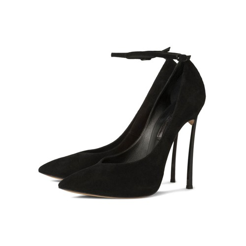 Women's Sexy Ankle Strap Heels Pointed Toe Stiletto Heel Pumps in Black spring 2021 #23600722044