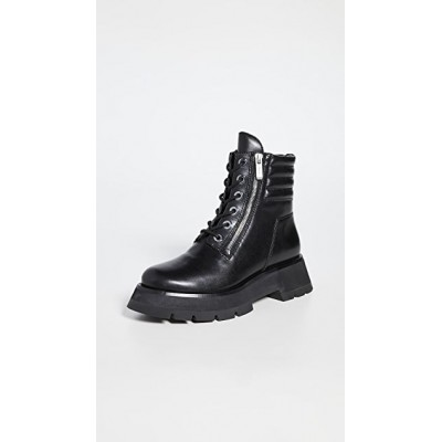 3.1 Phillip Lim Girl's Kate Lug Sole Double Zip Boots Black Hot IAWP962