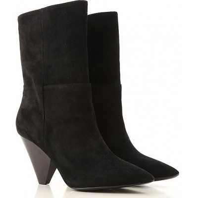 Ash Women Boots Black Suede Leather Selling Well ZIFAE2857