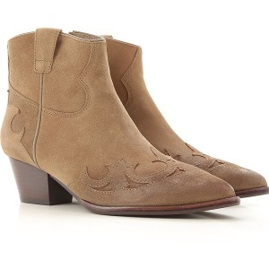 Ash Women Boots Taupe Suede Leather HIWKY1677