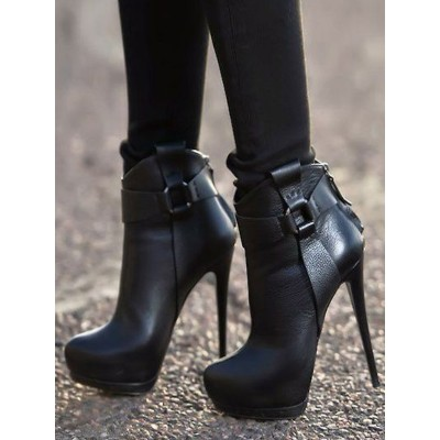 Black Ankle Boots Women Shoes Platform High Heel Booties hot topic #10690746458