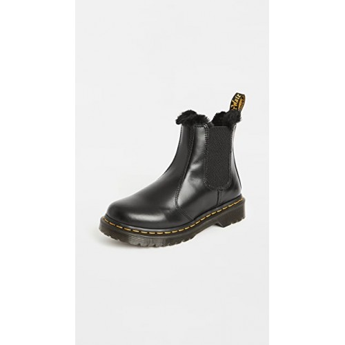 Dr. Martens Women's 2976 Leonore Boots Dark Grey on style RTHH573