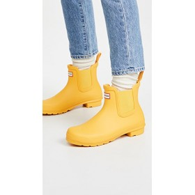 Hunter Boots Young Ladies Original Chelsea Boots Yellow 2021 New PEHQ455