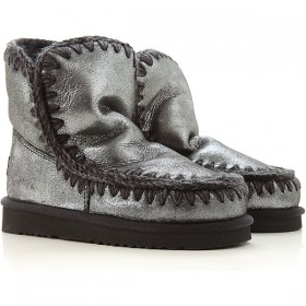 Mou Women Boots Silver Leather 2021 WBHOP5664