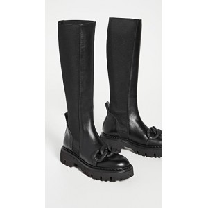 No. 21 Young Ladies Tall Chain Boots Black Near Me KHOE245