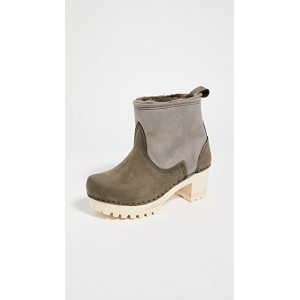 No.6 Women's Pull On Shearling Mid Tread Boots Storm Regular FQCE962