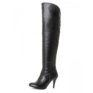Over The Knee Boots Womens Pointed Toe Stiletto Heel Winter Boots Comfort #10720728414