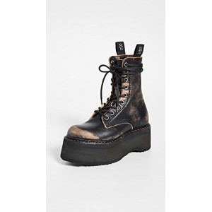 R13 Women's Double Stacked Lace Up Boots Remove GNTI306