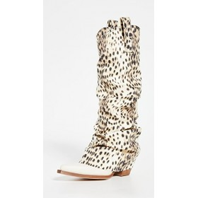 R13 Women's Mid Cowboy Boots with Sleeves Cheetah NESW916