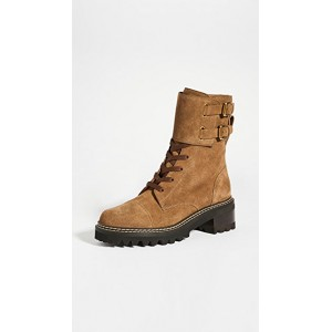 See by Chloe Young Ladies Combat Mallory Boots Terra Best YEYF123