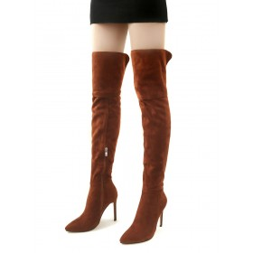 Thigh High Boots Suede Pointed Toe Size US 5-12.5 Stiletto Over The Knee Boots #10720812770
