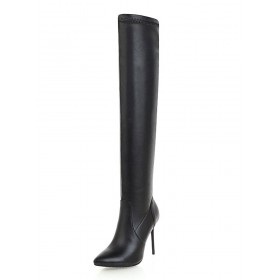 Thigh High Boots Womens Pointed Toe Stiletto Heel Over The Knee Boots Designer #10720808572