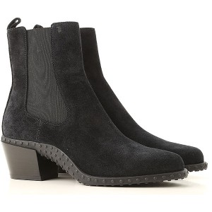 Tod's Women Boots Black Suede Leather Express LYPOZ2313