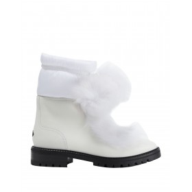 Women Low Heels Espadrilles In Store Trend - Women Ankle boots Soft Leather, Textile fibers, Shearling IBSFF7341