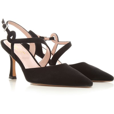 Anna F. Women Pumps Black suede Fitted FTSDE3958