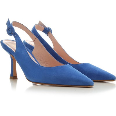 Anna F. Women Pumps Turquoise suede guide FDUFL3897