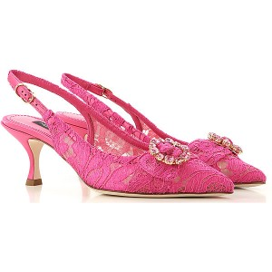Dolce & Gabbana Women Pumps fuxia Textile, Leather in style IUIJD8392